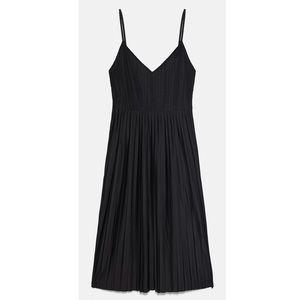 Zara Combined Pleated Dress